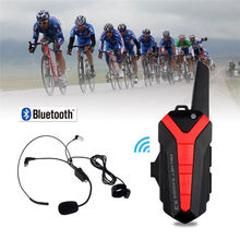 1 X Bluetooth Bicycle Helmet hedset 1.5-3KM Intercome Interphone Walkie Talkie X3 Plus Group Intercom Headset(China)