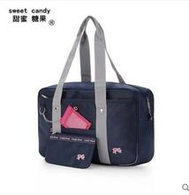 The new uniform package Japanese bow Japanese students bag pink printing card bag pen bag Headphone jack mobile phone bag