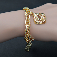 Sunny Jewelry Vintage Jewelry Charm Bracelets For Women Link Chains Fairy Flower Lock Bracelets Chains For Party Wedding Daily(China)