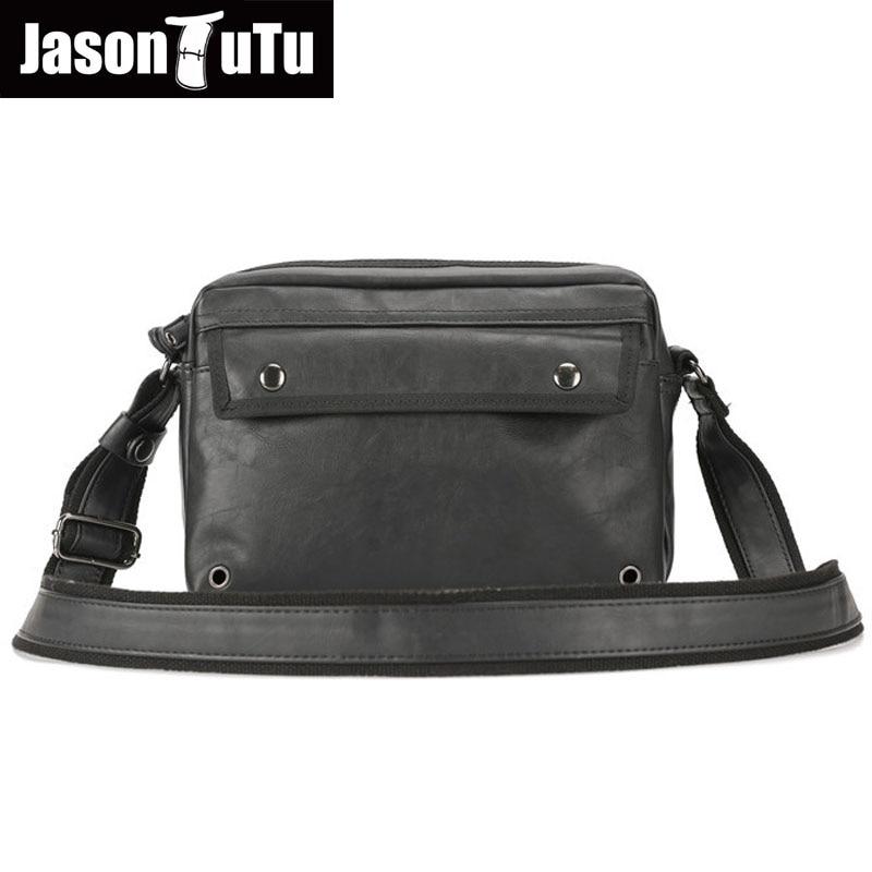 JASON TUTU Brand Male bag Handbag Black PU leather Shoulder Bags,Men messenger bags Leisure laptop Crossbody bag purse B500<br>