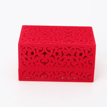 Fashion Hollow Engagement Wedding Necklace Pedant Jewelry Box Holder Display Gift T52(China)
