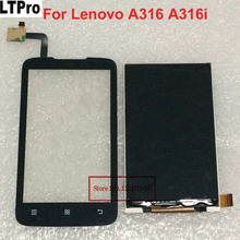 LTPro Best Quality Black A316 LCD Display + Touch Screen Digitizer For Lenovo A316 A316i Mobile Phone Panel Sensor Repair Parts(China)