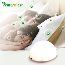 2 in 1 Mini USB Table Mood Lamp Portable LED Night Light with Anion Air Purifier Freshener for Desktop Home Car Air Cleaner