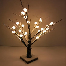24 LEDS Warm White  outdoor led Cherry Balls Blossom tree light for christmas led christmas tree lights decoration