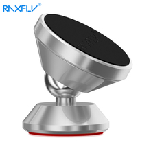 RAXFLY Magnetic Car Holder Stand Auto Magnet GPS Universal Mobile Phone Car Holder For iPhone Samsung Smartphone 360 Rotation(China)