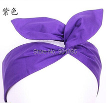 Free Shipping Wholesale Rockabilly Pin Up wire headband Hair wrap plka dot hair scarf 6 styles