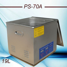 110V/220V Bath Cleaner PS-70A 40KHz 420w Ultrasonic Cleaner 19L Stainless Steel for Laboratory, test tube cleaning(China)