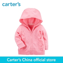 Carter's 1-Piece baby children kids clothing Girl Spring & Summer French Terry Ruffle Zip-Up Hoodie 118I248(China)