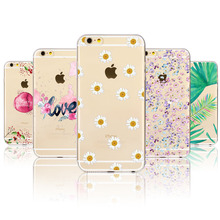 Buy Colorful Beautiful Summer Flowers Watercolor Case Apple iPhone 6 6S 5 5S SE 6Plus 6sPlus 7 7Plus TPU Soft Clear Back Cover for $1.34 in AliExpress store