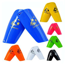 Children Football leg guard professional double-deck light Soft Foam Sports Guards Leg Protector Soccer Shin Pads(China)