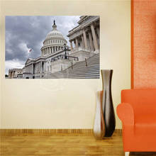 W620F23 Custom United States Building in Washington Canvas Painting Wall Silk Poster cloth print DIY Fabric Poster FW#-21