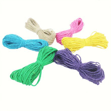 19 m DIY Handmade Wax Cords Hemp Rope 2MM Charm Handmade DIY Materials Childrens Educational Toys Toddler Kids Arts Decor Crafts(China)