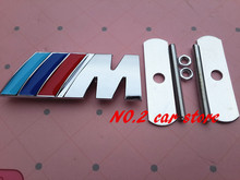 10set Free shipping 3D Sport M ///M Front Grille emblem car Sticker Badge car styling auto accessories(China)
