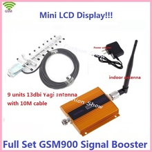 LCD display+13dbi yagi! gsm mobile phone mini GSM 900mhz cellular signal booster gsm cell phone GSM signal repeater amplifier(China)