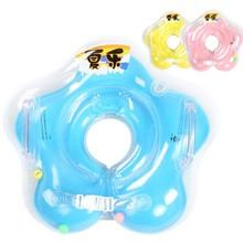 Summer Neck Float Baby Accessories Swim Neck Ring Baby Safety Swimming Infant Circle For Bathing Inflatable(China)