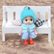 Hot Sale 8cm Baby Dolls Plastic Mini Doll Toys 5pcs/ Lot Wholesale Best Gift for Children