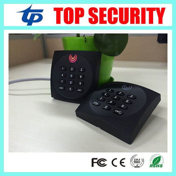 4pcs a lot IP65 waterproof smart card 13.56MHZ MF card IC card access control system reader proximity card reader with keypad<br>