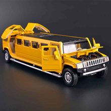 Original1:32 Extended edition for hummer alloy model car back in acousto-optic automotive cross-country vehicles baby toys(China)