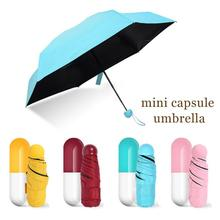 Creative MINI Anti-UV For Ladies Women Capsule Small Umbrellas Five Folding Compact Sun Sunshine Rain 200G Fashion Design L35