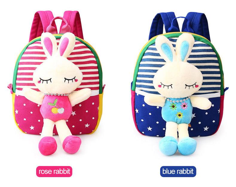 Korean Style Children Toddler Cartoon Stuffed Plush Backpacks baby girls boys cute toys schoolbag backpack (4)