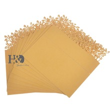 Hot sale Gold Hollow out Leaf Laser Cut Paper 120pcs atrezzo Name Place Card for Glass Cup Table Party Wedding Favors Decoration(China)