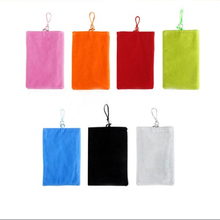 Universal Phone Velvet Pouch Fabric Case Holder Common General Phone Sock Pouch For Smartphone For Iphone For Samsung For Xiaomi