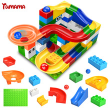Marble Run Assemblage Brick Bulk Parts Models And Building Blocks Kit Castle Slideway Toys Compatible With Duplo Gift For Kids