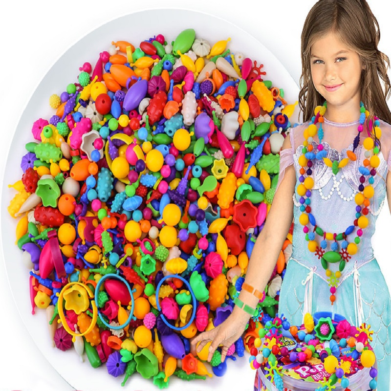 Colorful Candy Bead DLY Girl Lovely Toys Fashion Puzzle Intelligence Design Necklace Children Christmas Gift <br><br>Aliexpress