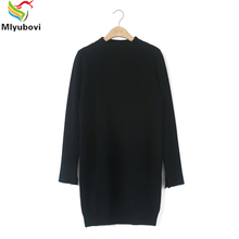 Mlyubovi Women Christmas Fashion Turtleneck Sweater Loose solid long thick women Autumn fashion pullover Ladies knitted sweater