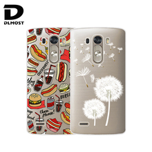 TPU Soft Case For LG G3 D855 D850 Transparent Colored Drawing Ultra-Thin Silicone TPU Phone Cases Cover For LG G3