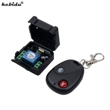 kebidumini 433MHz remote control Universal Wireless Remote Control Switch DC12V 10A Telecomando Transmitter with Receiver 433mhz(China)