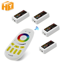Mi Light RF 2.4G RGBW Touch Remote Control + 4Pcs RGB RGBW Strip Controller For DC12-24V RGB RGBW LED Strip(China)