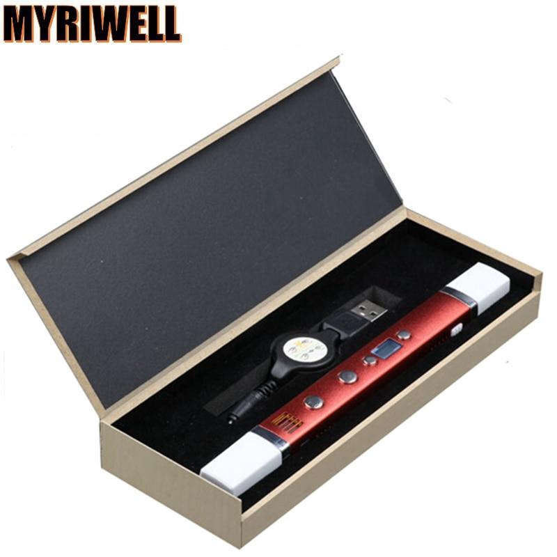 Newest 3D Pen MYRIWELL RP-100C Third generation USB Plug 5V 2A Creative Caneta Pen 3D graffiti pen Digital 4 speed regulation<br>