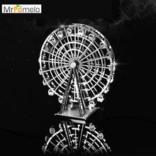 MrPomelo Ferris Wheel 3D Metal Model Kit Stainless Steel DIY Assembly Building Children Educational Toys Jigsaw Puzzles for Kids