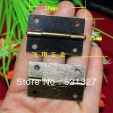 1.5 inch antique wooden hinge metal hinge flat packaging small parts 38 * 25MM hinge
