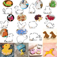 1pcs Variation Animal Dogs Elephant Frog Dinosaur Moldes Metal Cookie Cutter Cake Decor Tool reposteria moule patisserie gateau