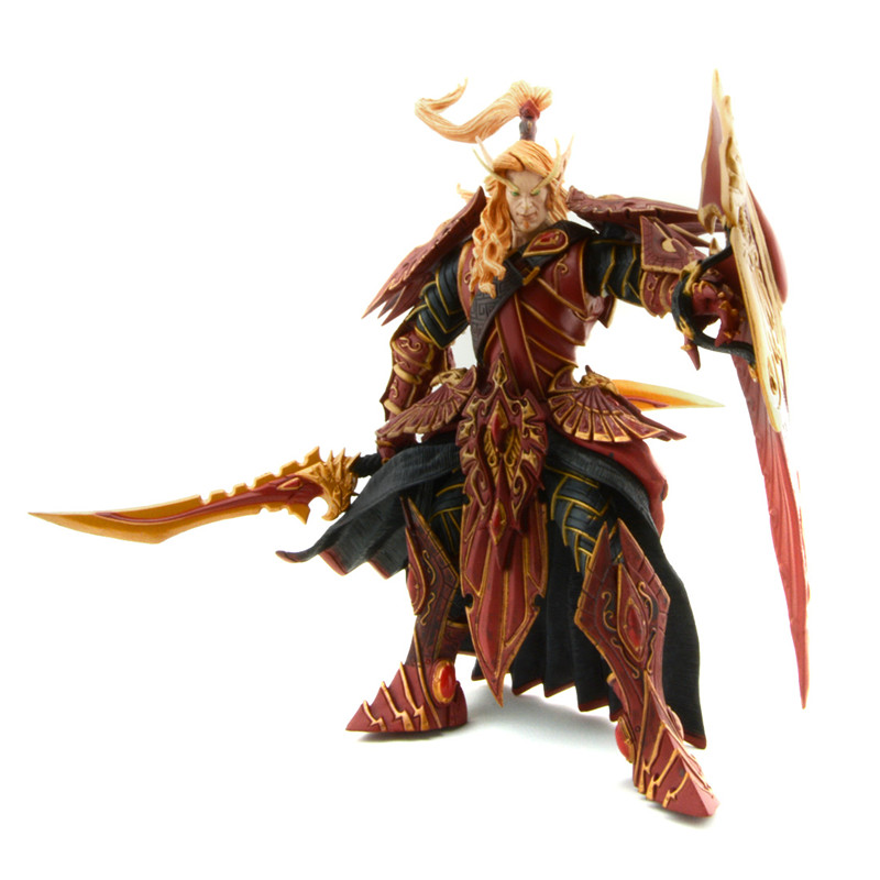 Starz Online Game Wow Blood Elf Paladin Quinthalan Sunfire Spell Breaker Knight Action Figures Model Toys Peripherals Gift<br>