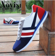 2017 New Hot Men Fashion Outdoor Casual Striped Canvas Shoes Male Low Help Lace-up Canvas shoes  size 39-44