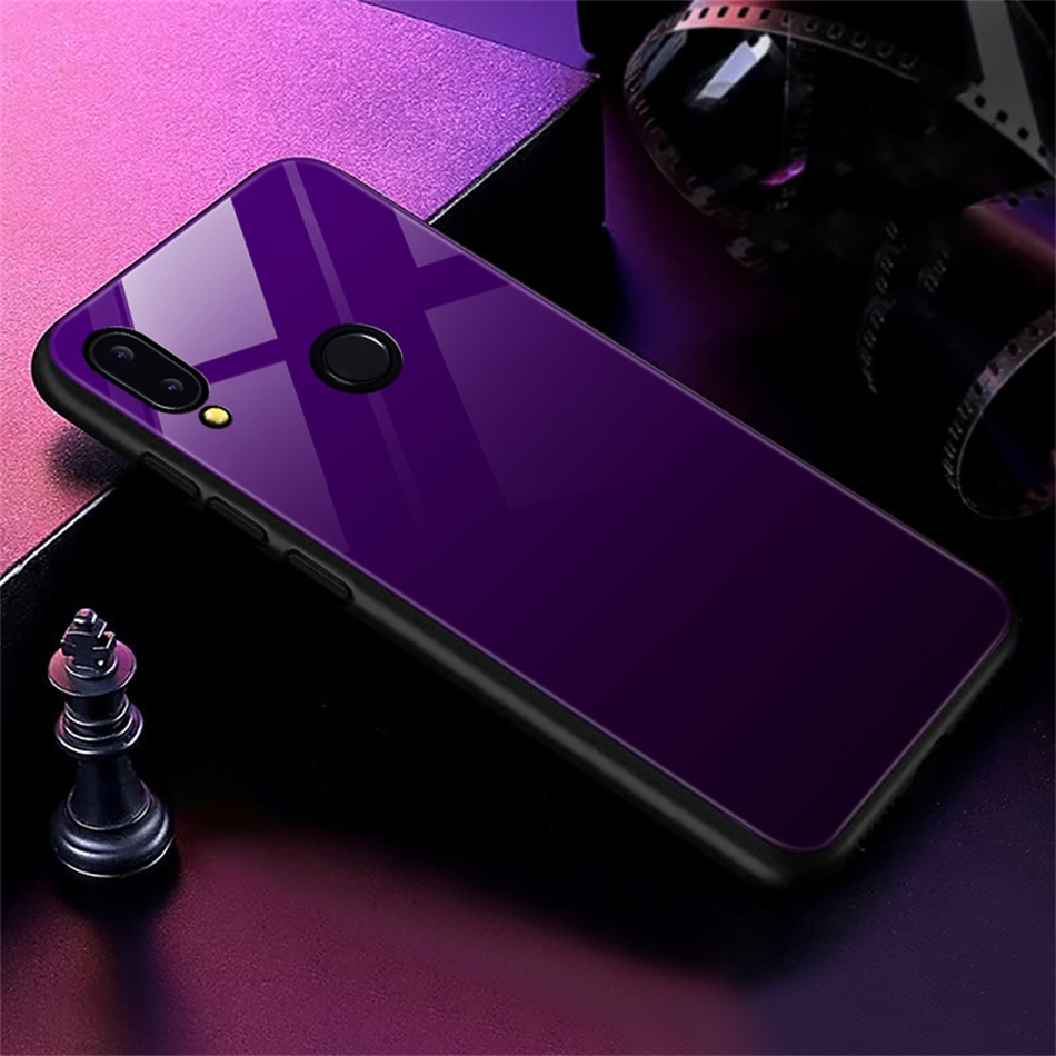 Gradient Glass Back Case For Huawei P20 Lite P Smart Plus Nova 3i Case Luxury Silicone Case For Huawei Honor 10 9 Lite 8X Coque (14)