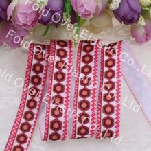 5/8''printed fold over elastic 100yards/lot, 2015 new product,heat transfer, Free shipping, hexagon