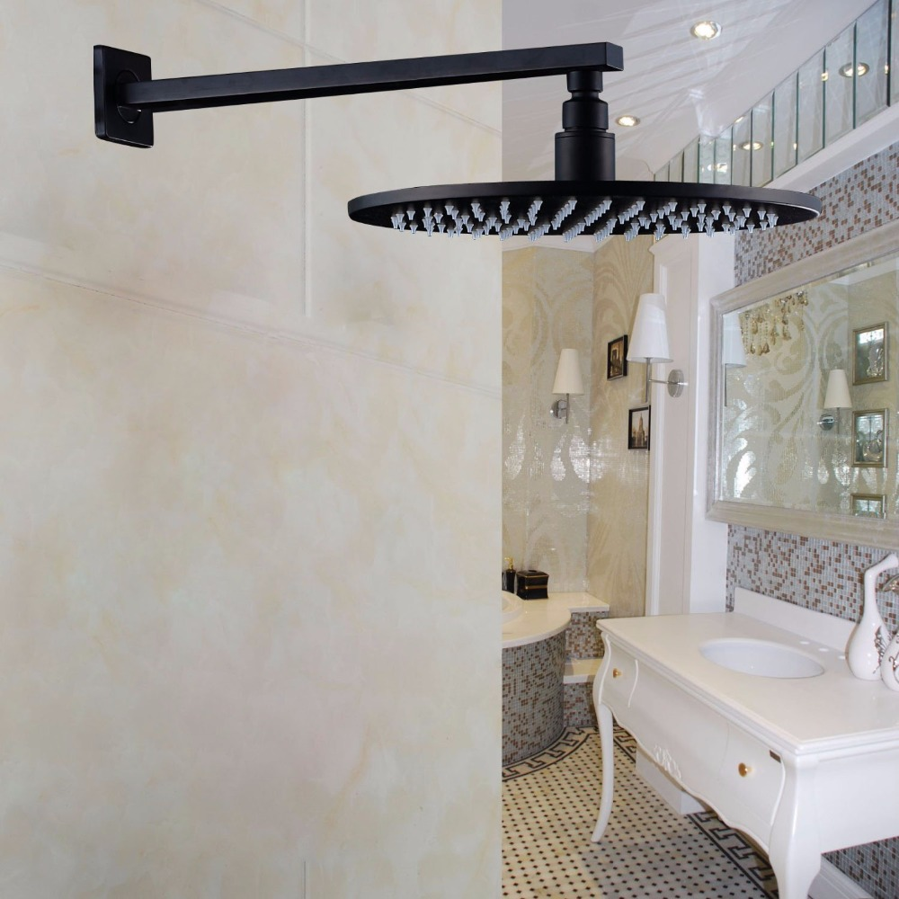 Oil Rubbed Bronze Wall Mounted Shower Arm with Round 12 Rainfall Top Shower Head<br><br>Aliexpress