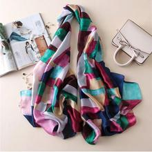 Summer women scarf quality winter Color box Graff silk scarf print shawls wrap long female pashmina ladies stole christmas gift