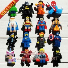 Wholesale 100pcs/lot Super Man Heroes PVC shoe charms/shoes accessories Shoe Decoration Kid Favor Gift