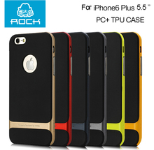 For Apple iPhone 6 7 Plus case Slim Shockproof Hybrid Hard frame Soft Rubber Case for iphone 7/7 plus(China)