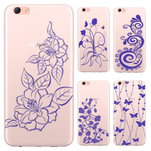 Blue And White China Series Phone Case For Oppo R9S 5.5-inch / Oppo R9S Plus 6-inch Painted TPU Soft Case(China)
