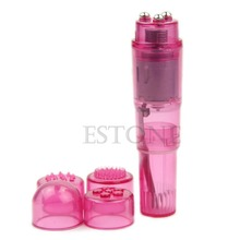 1Pc Pink Supre Mini Full Body Massager Relieve Stress Travel Pocket Rocket #E015C#(China)