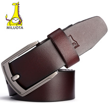 [MILUOTA] Designer Belts Men High Quality Cow Genuine Leather Belt Men Brand Vintage ceinture homme Jeans Strap Male MU068