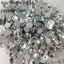Amazing Accessories Recommended 7mm SS34 144pcs Crystal Clear Good Quality More Shiny Strass Hotfix Rhinestones