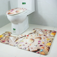 3pcs/set Cheap Bathroom Toilet Seat Warmer Carpet Toilets Cover Soft Comfortable Bath Mat Washable Colorful Washroom Rugs