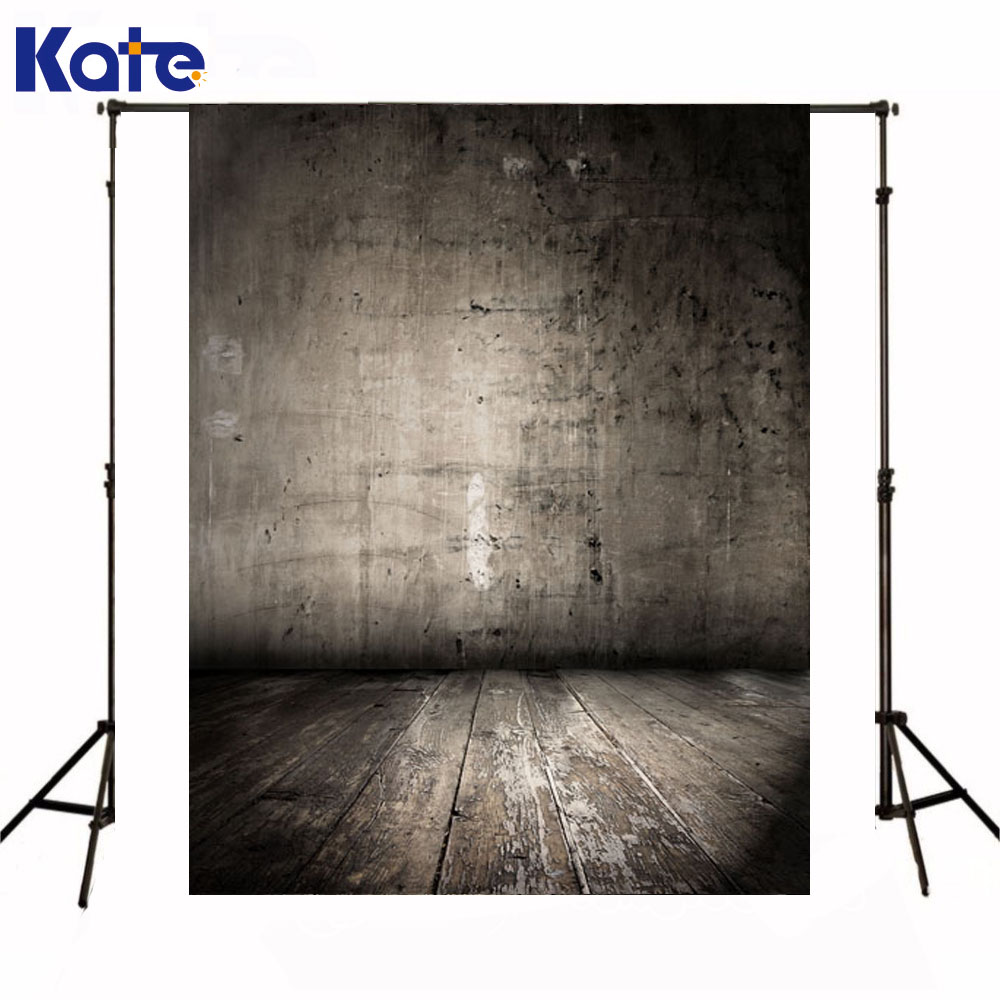 Kate Newborn Baby Backdrops Photography Dirty Rough Gray Wall Fundo Fotografico Madeira Wooden Floor Backgrounds For Photo Shoot<br>